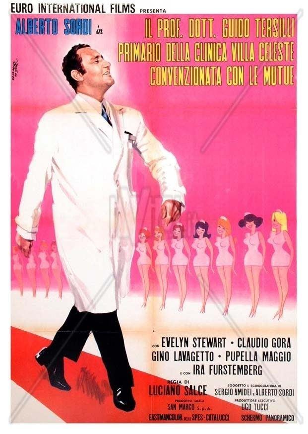Il Prof. Dott. Guido Tersilli, primario della clinica Villa Celeste, convenzionata con le mutue Lady Ex Il Prof Dott Guido Tersilli Piero Piccioni 1969