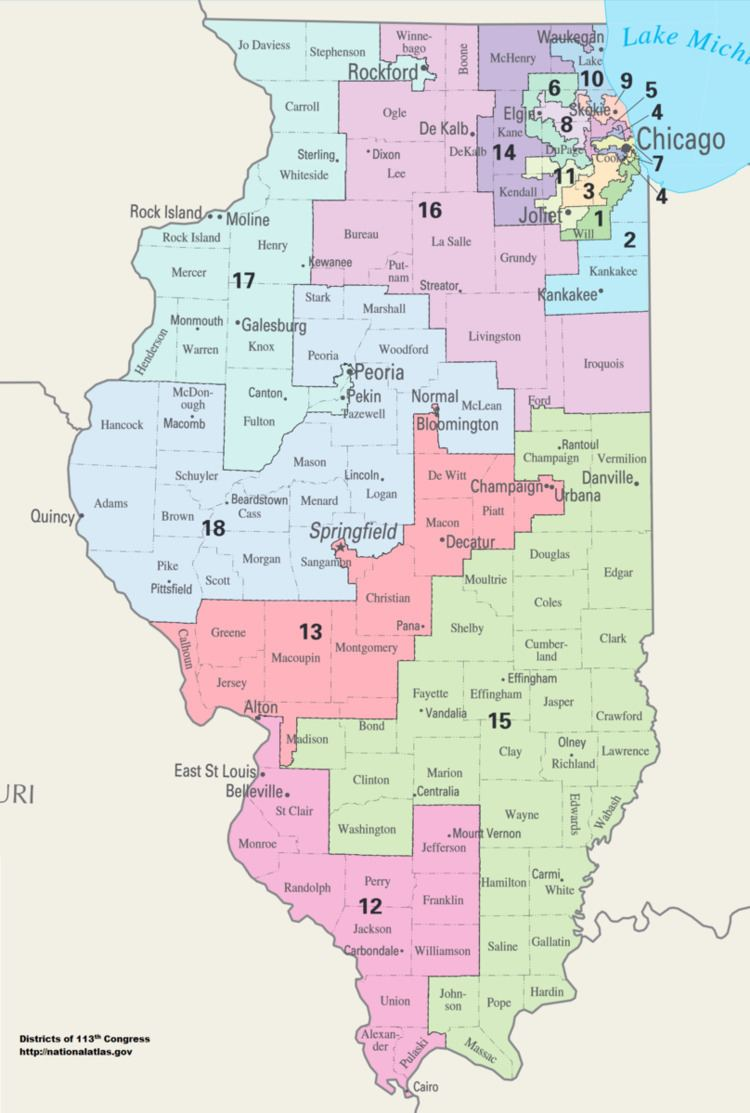 Illinois' congressional districts