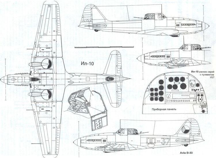 Ilyushin Il-10 Ilyushin Il10 Blueprint Download free blueprint for 3D modeling