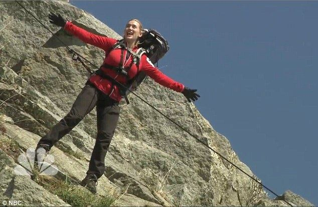 Im Just Wild About Jerry movie scenes Kate Winslet recreated her famous Titanic scene on Running Wild With