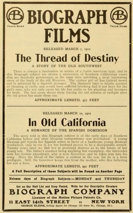 In Old California (1910 film) httpssmediacacheak0pinimgcomoriginals4f