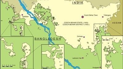 India–Bangladesh enclaves India and Bangladesh sign border gore reduction treaty