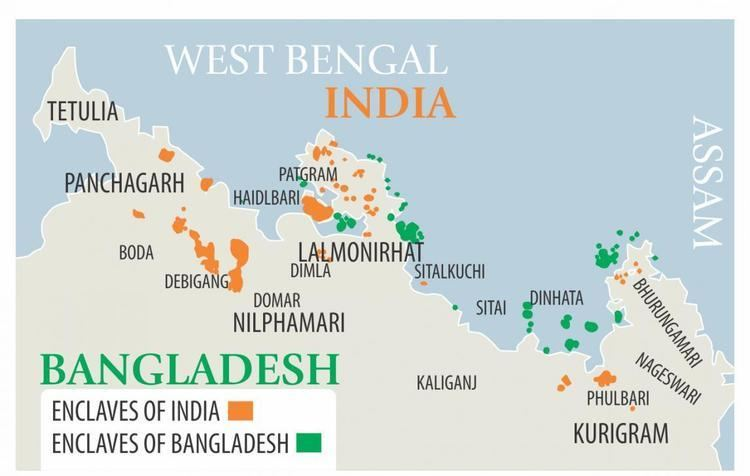 India–Bangladesh enclaves India to begin exchange enclaves at midnight tonight National
