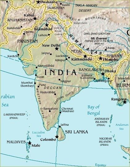 Indian subcontinent Indian Subcontinent Map World Atlas