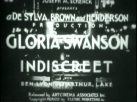 Indiscreet (1931 film) Indiscreet 1931 Comedy YouTube