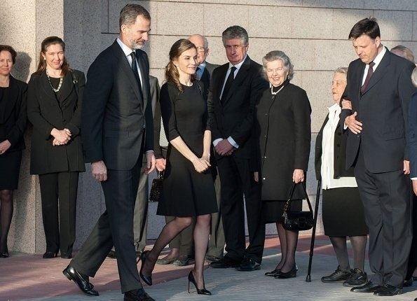 Infanta Alicia, Duchess of Calabria King Felipe and Letizia attend a funeral chapel for Infanta Alicia