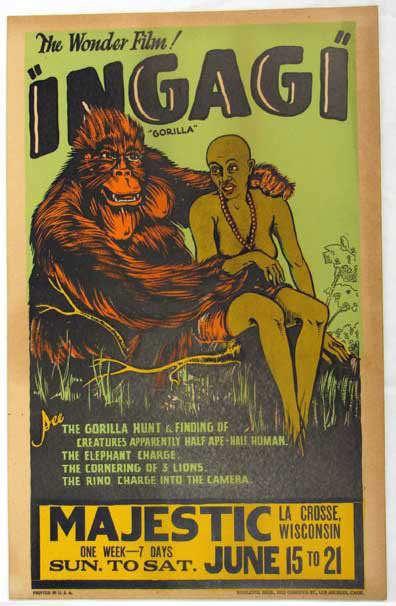 Ingagi INGAGI 1930original movie scans Classic Horror Film Board