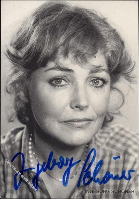 Ingeborg Schöner Ingeborg Schner Schauspielerin original AutogrammFranz