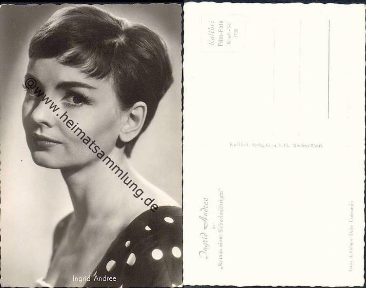 Ingrid Andree HistorischeAnsichtskartenSchauspielerA02