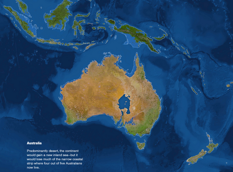 Inland sea (geology) MAP If All The Ice On Earth Melted Australia Would Have An Inland