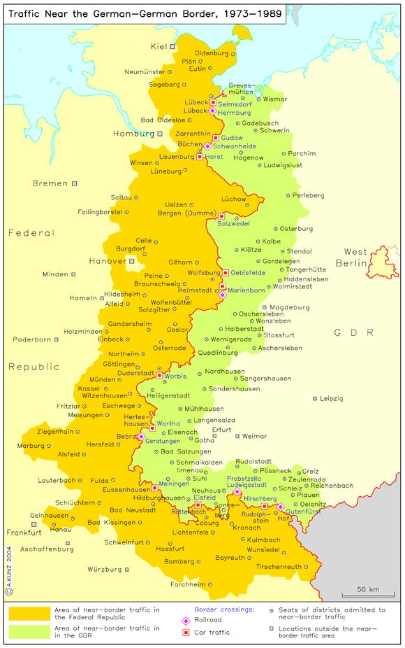 Map Of East Germany And West Germany.Inner German Border Alchetron The Free Social Encyclopedia