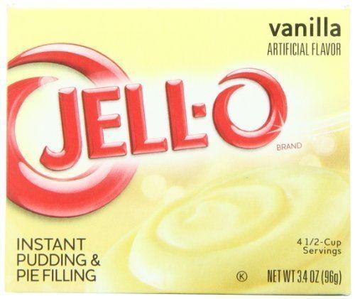 Instant pudding Amazoncom JellO Instant Pudding amp Pie Filling Vanilla 34