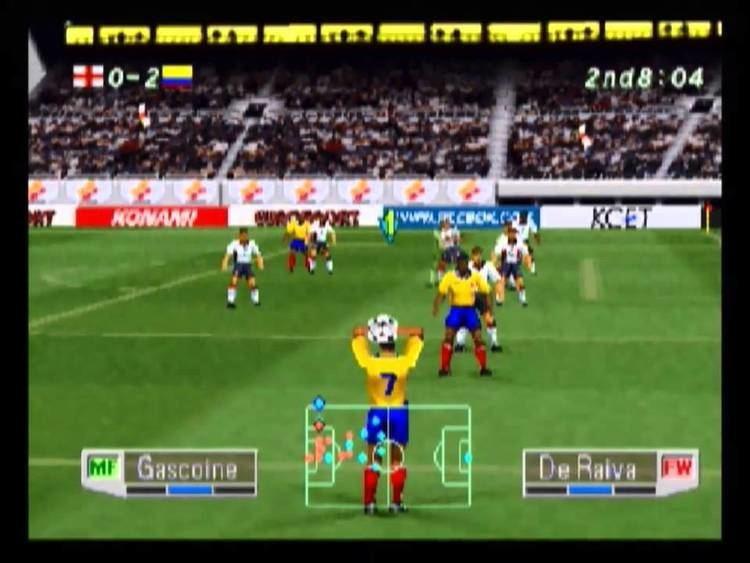 International Superstar Soccer Pro 98 Colombia vs England International Superstar Soccer Pro 98 PS1