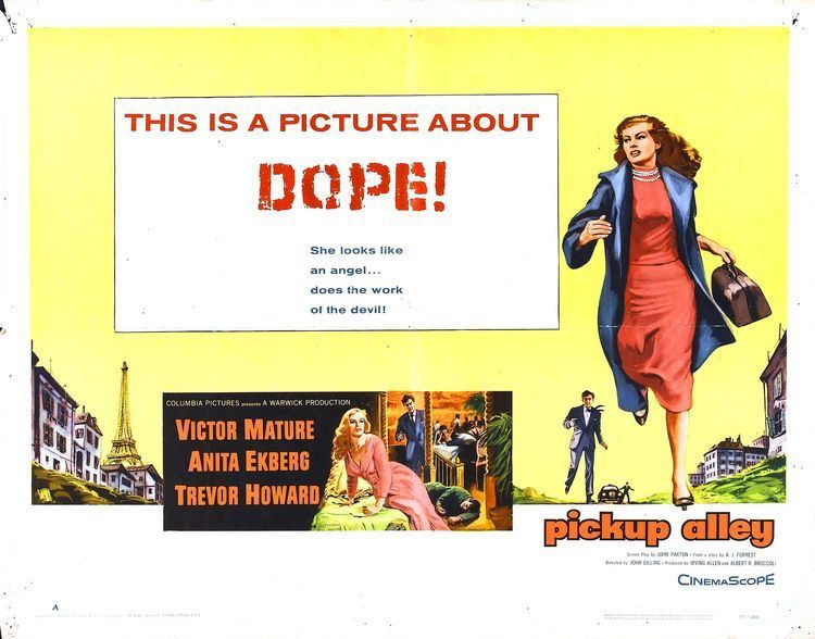 Interpol (1957 film) Poster for Pickup Alley aka Interpol 1957 UK Wrong Side of