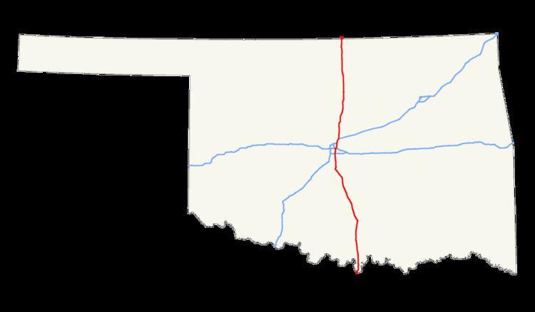 Interstate 35 in Oklahoma