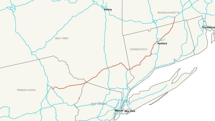Map Of I 84 New York.Interstate 84 Pennsylvania Massachusetts Alchetron The Free