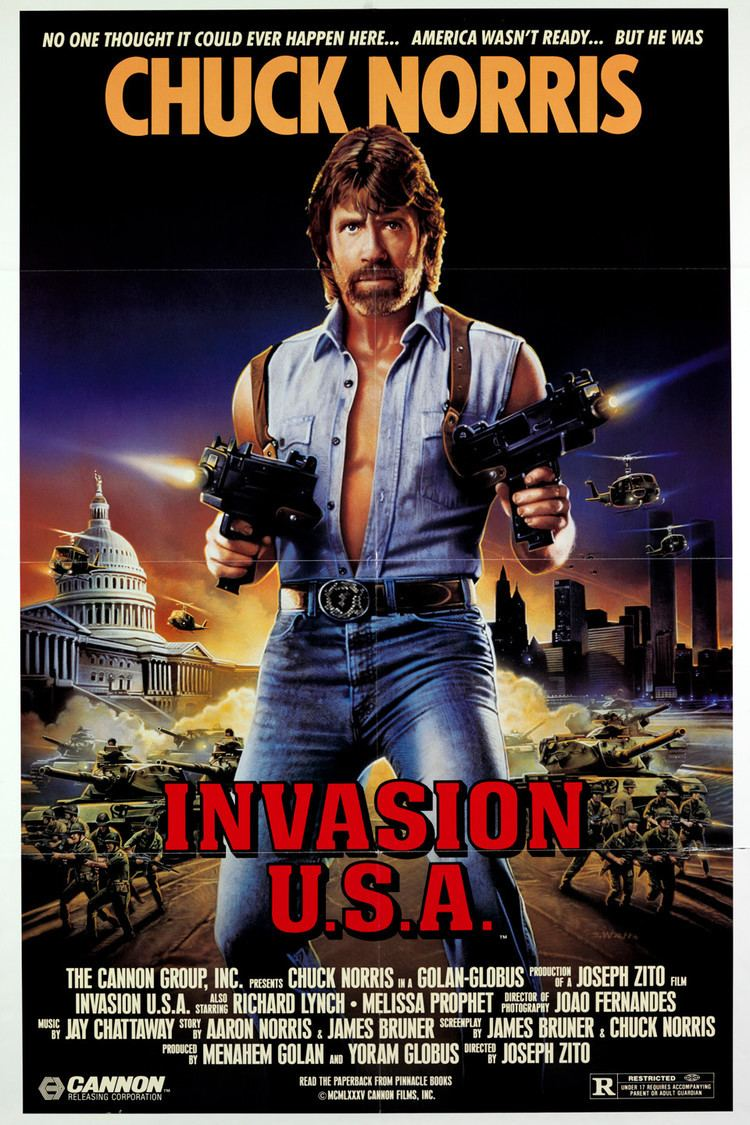 Invasion U.S.A. (1985 film) wwwgstaticcomtvthumbmovieposters9400p9400p