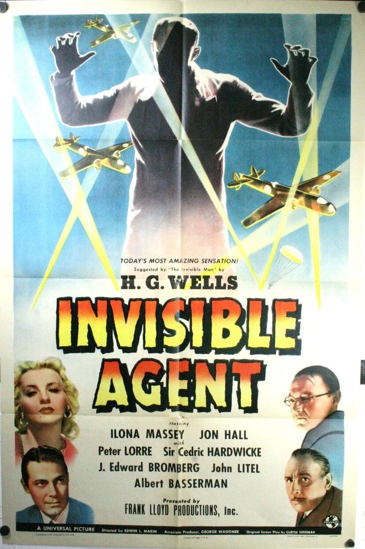 Invisible Agent Invisible Agent Original H G Wells SciFi poster