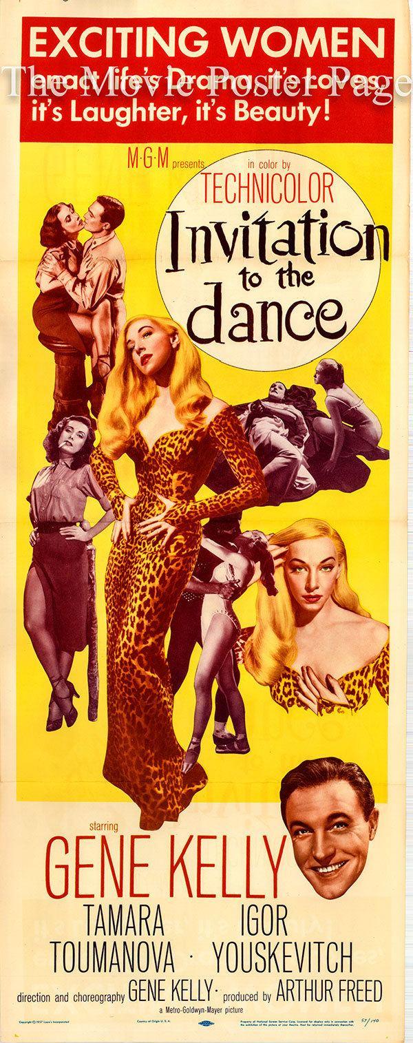 Invitation to the Dance (film) Invitation to the Dance 1956 Gene Kelly US insert F NM 125