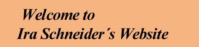 Ira Schneider IraSchneidercom homepage of Ira Schneider