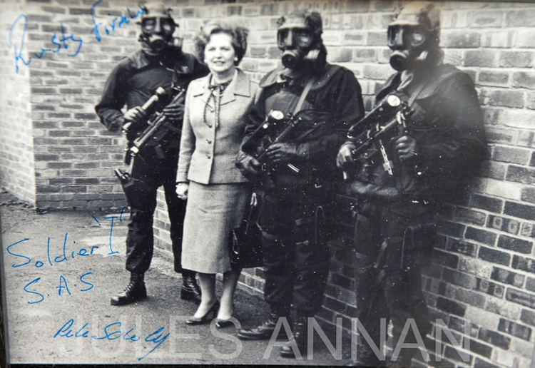 Iranian Embassy siege SAS Special Forces autograph signed Thatcher Iranian Embassy Siege