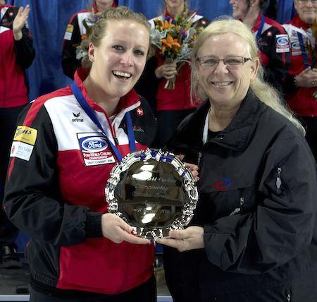 Irene Schori Swiss claim third straight world womens gold medal Curling Canada