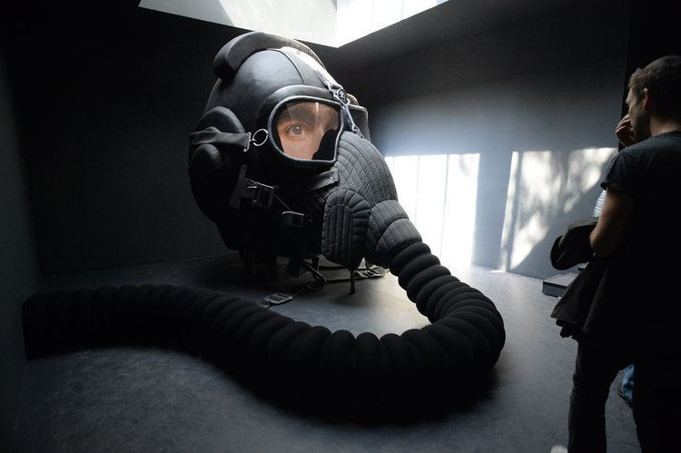 Irina Nakhova A giant gas mask created by Russian artist Irina Nakhova