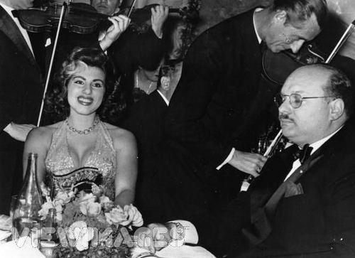 Irma Capece Minutolo HM King Farouk I with Irma Capece 1954 Flickr Photo