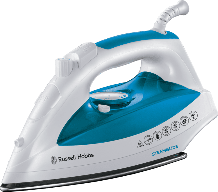 Iron Russell Hobbs 21570 Steamglide Iron 2400 W White and Blue Amazon