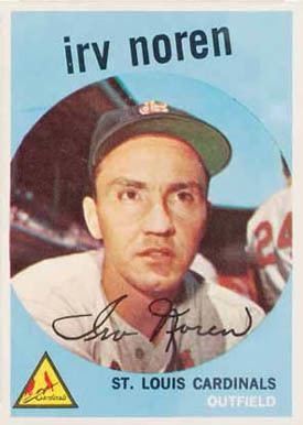 Irv Noren 1959 Topps Irv Noren 59 Baseball Card Value Price Guide