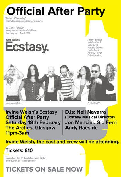 Irvine Welsh's Ecstasy Irvine Welshs Ecstasy Official Afterparty Clubs The Arches