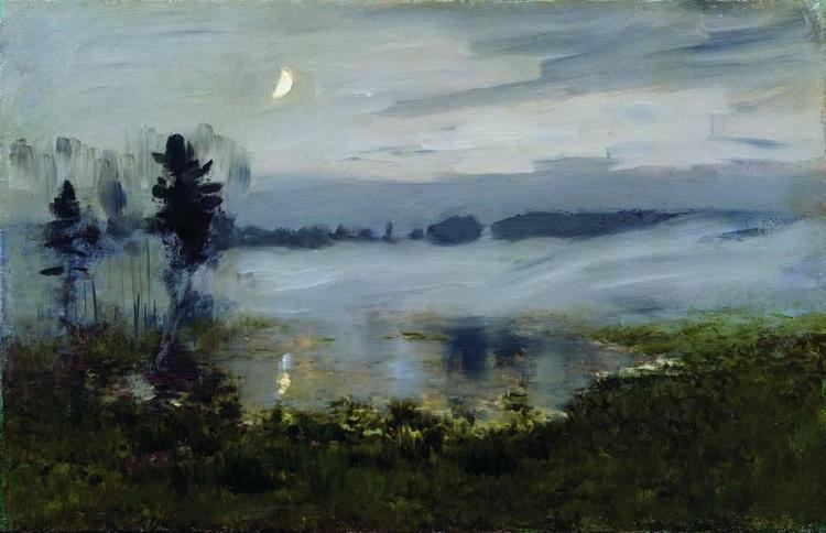 Isaac Levitan Fog over water Isaac Levitan WikiArtorg