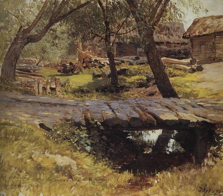 Isaac Levitan Footbridge Savvinskaya village Isaac Levitan WikiArtorg