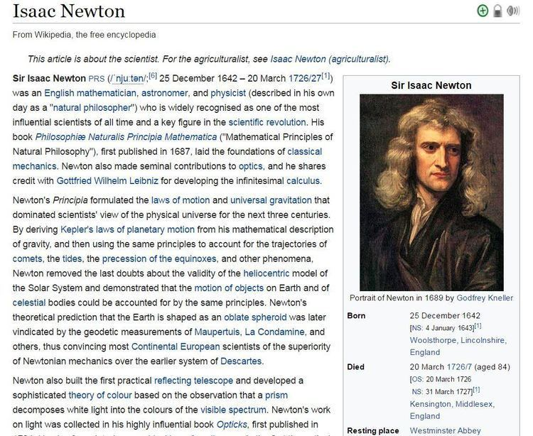 Isaac Newton (agriculturalist) Sir Isaac Newton Mr Gravity Died This Day 290Years Ago March 20