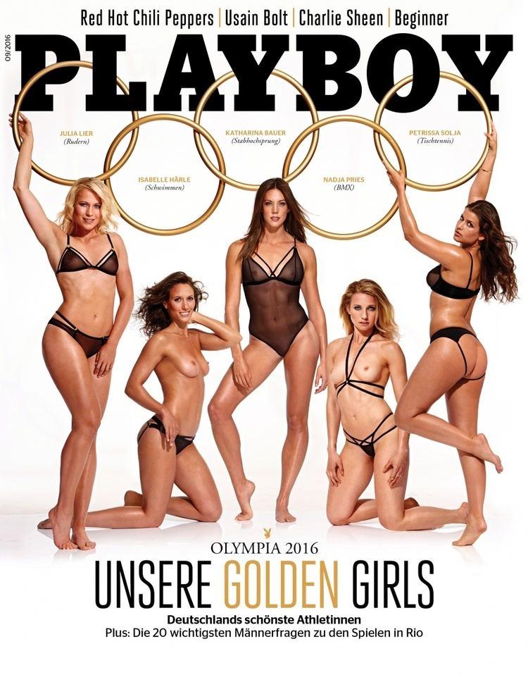 Isabelle Härle Isabelle Hrle auf dem Cover des Playboy swimde