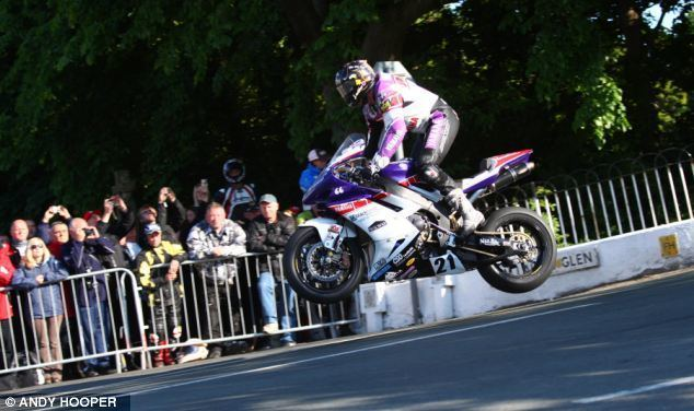 Isle of Man movie scenes The video shows the bike jumping high into the air on several occasions as the rider