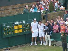 Isner–Mahut match at the 2010 Wimbledon Championships httpsuploadwikimediaorgwikipediacommonsthu
