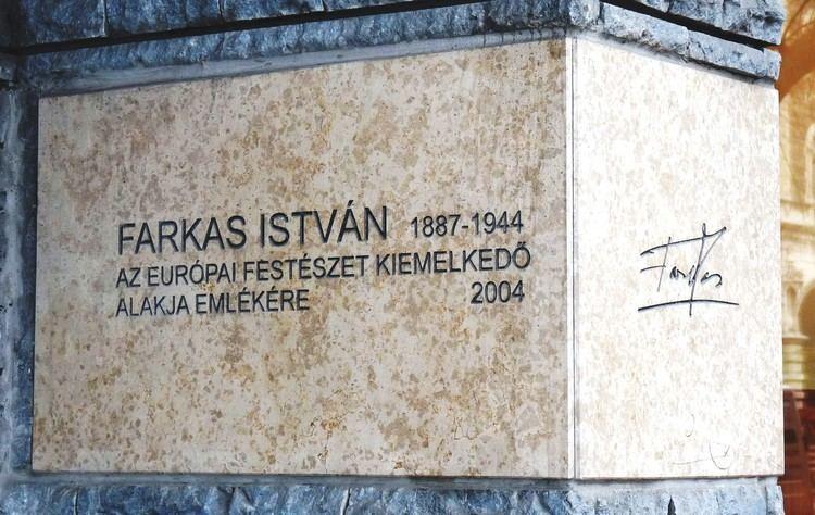 István Farkas (painter) FileIstvn Farkas plaque Bp06 Andrssy16jpg Wikimedia Commons