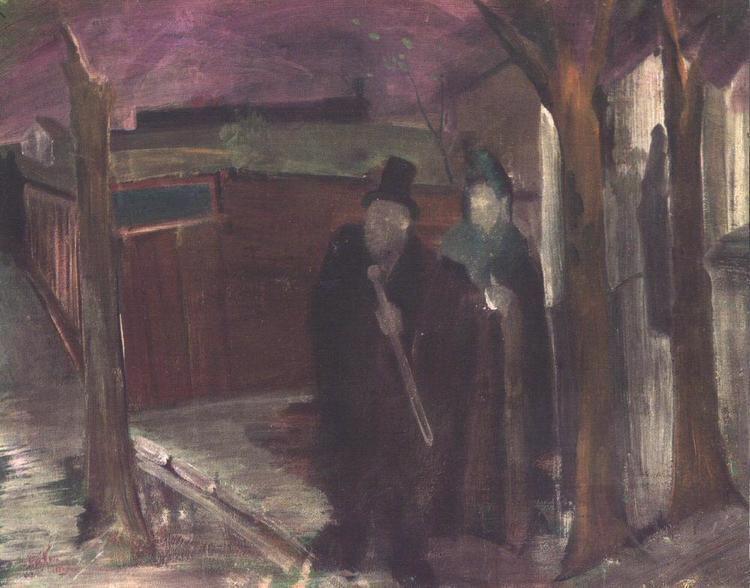 István Farkas (painter) Dawn on the Outskirts of Town Morning 1931 painting Istvan Farkas