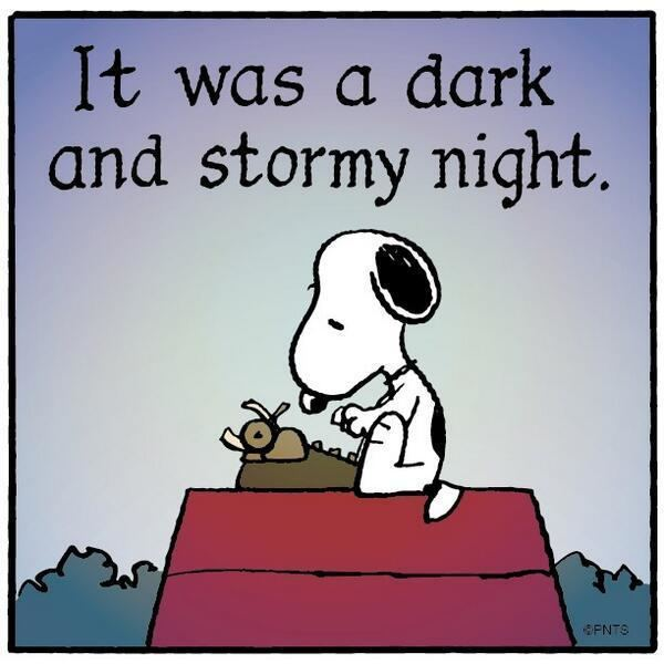 It was a dark and stormy night PEANUTS on Twitter quotIt was a dark and stormy night httptco