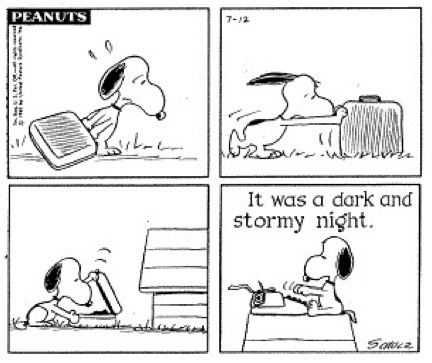 It was a dark and stormy night The World39s Shortest Novel Snoopy39s It was a Dark and Stormy