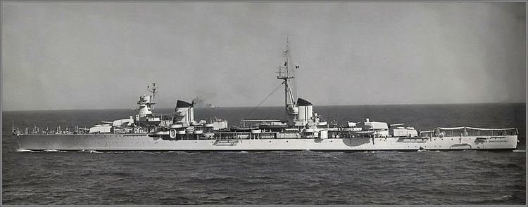 Italian cruiser Raimondo Montecuccoli Italian light cruiser Raimondo Montecuccoli taking part in NATO