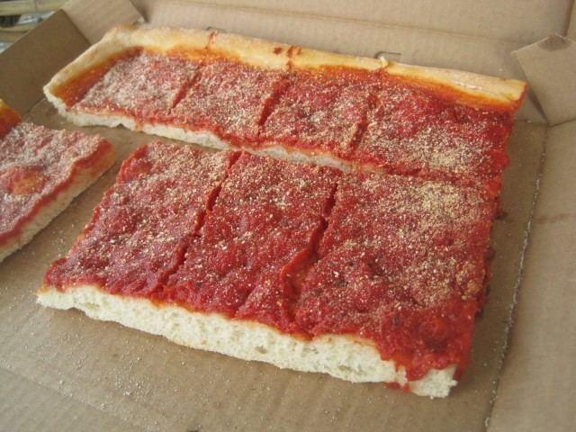 Italian tomato pie Pizza Quixote Defining the Tomato Pie