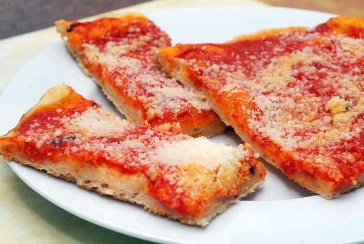 Italian tomato pie CNYEats A Taste of Utica Tomato Pie