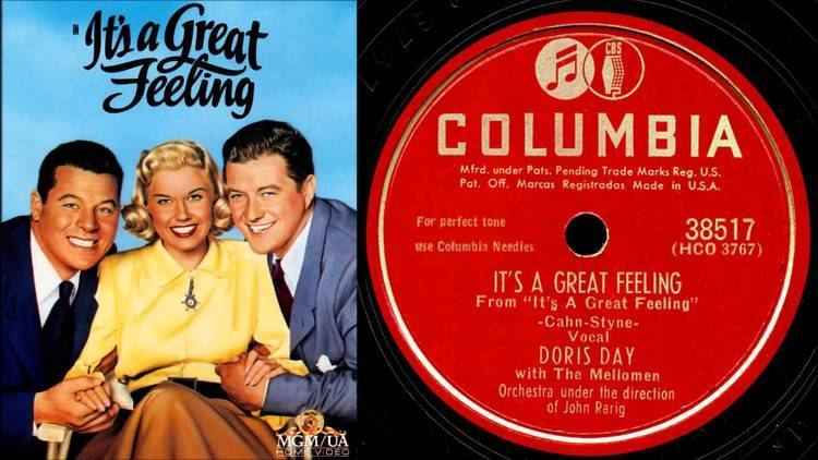 It's a Great Feeling Doris Day Its A Great Feeling from the Warner Bros film of the