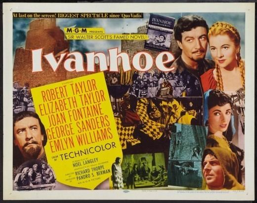 Ivanhoe (1952 film) Historical Films 19501959 100 Years of Movie Posters 43 HubPages