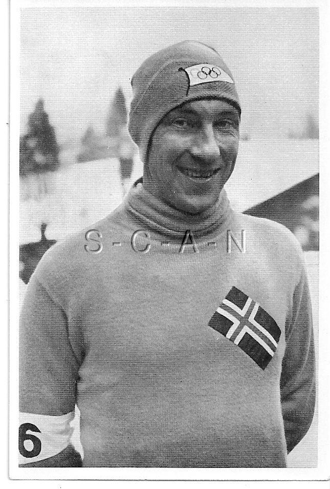 Ivar Ballangrud WWII German Large 36 Olympic Photo Image Sports Speed