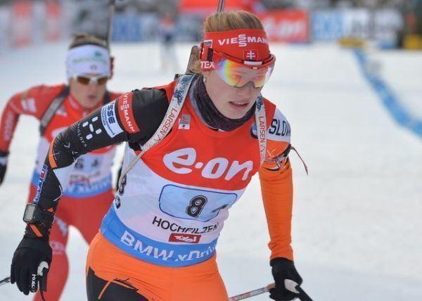 Ivona Fialková BiatlonMSJaK Ivona Fialkov 14 v rchlostnch pretekoch portsk