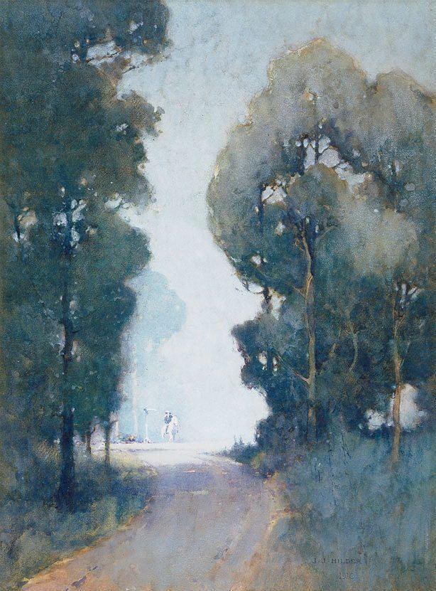 J. J. Hilder The crossroads 1910 by J J Hilder The Collection