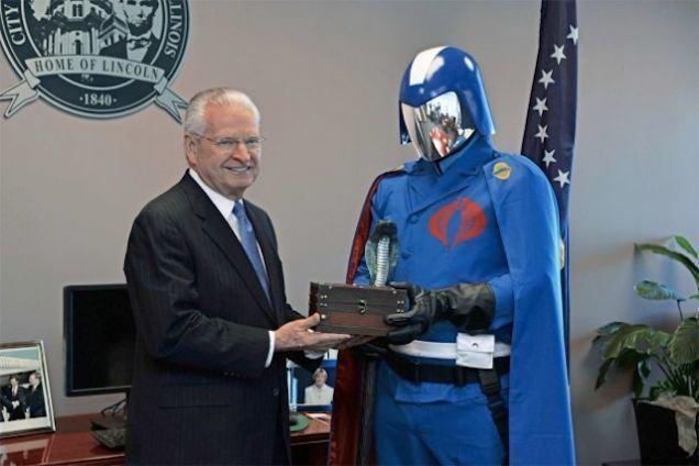 J. Michael Houston Springfield Illinois mayor J Michael Houston has given the key to